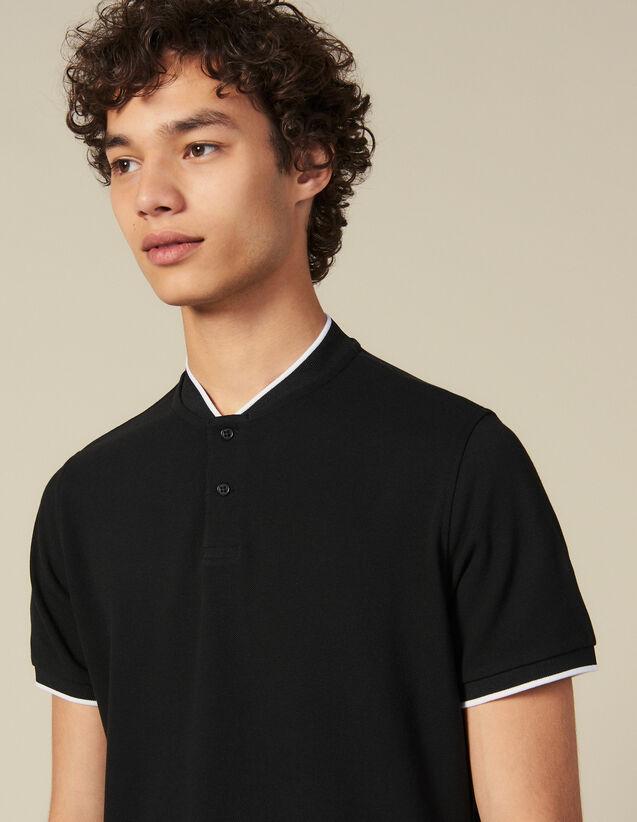 Polo con cuello en contraste : Toda la colección de Invierno color Negro