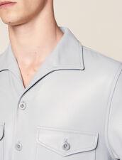 Camisa De Manga Corta De Piel De Cordero : Camisas color Sky Blue