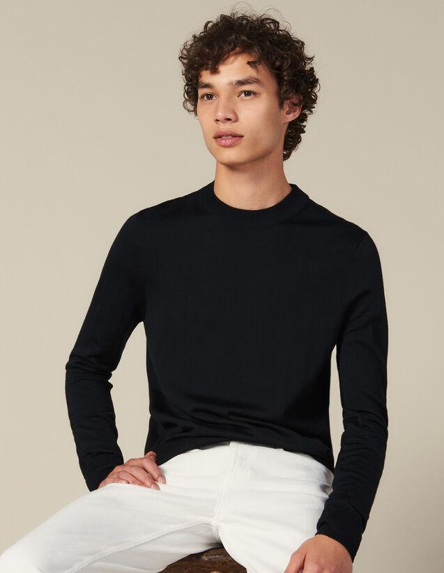 Jersey de punto fino de lana : Jerseys & Cárdigans color Burdeos