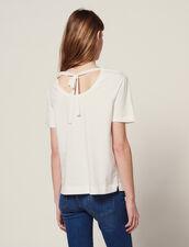 Camiseta Con Pechera Plisada : LastChance-FR-FSelection color Blanco