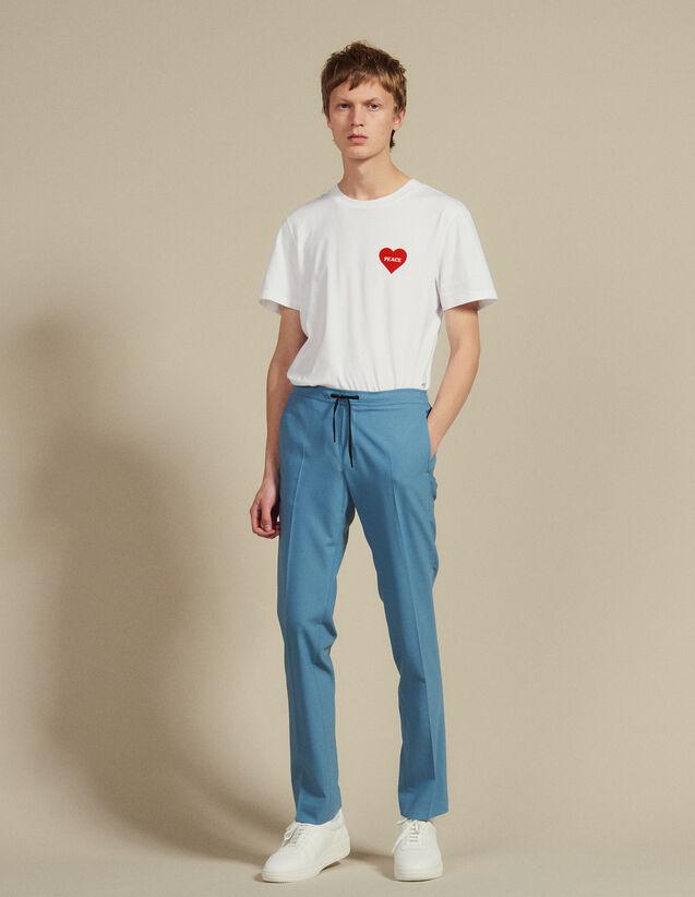 Pantalón Urbano, Cordón En La Cintura : Sélection Last Chance color Azul acero