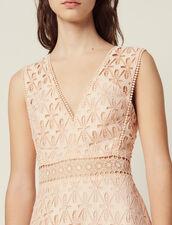 Vestido Midi De Guipur Inglés : LastChance-FR-FSelection color Rosa