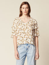 Top Fluido Estampado : LastChance-FR-FSelection color Crudo