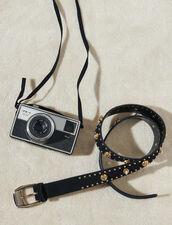 Cinturón adornado con remaches y estrás : Toda la colección de Invierno color Negro