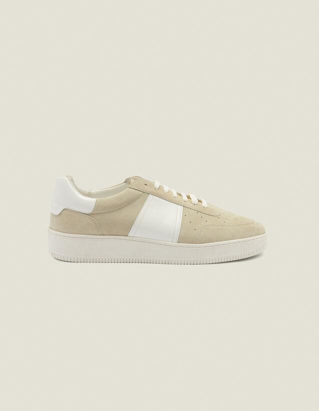 Deportivas de piel : Zapatos color Crudo
