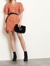 Vestido abrigo de encaje : Vestidos color Coral