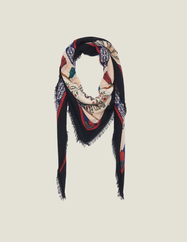 Fular Estampado De Lana : Coleccion de verano color Multicolor