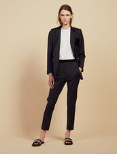 Pantalón de sastre recto : Pantalones color Marino