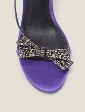 Sandalias de satén con nudo de estrás : -50% color Violeta