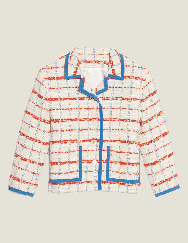 Chaqueta Blazer De Tweed : null color Multicolor