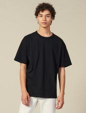 Camiseta De Algodón : Colección de invierno color Negro