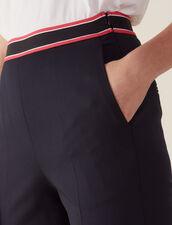Pantalón De Corte Recto : null color Marino