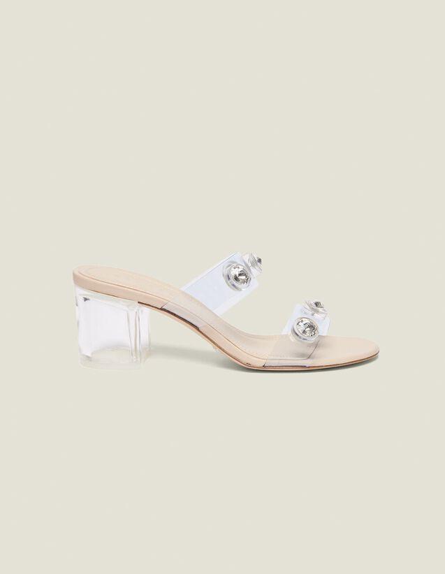 Mules Con Tiras De Pvc : Todos Zapatos color Transparente