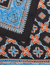 Fular Con Estampado De Seda : null color Azul