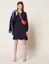 Vestido Corto De Jacquard : null color Marino