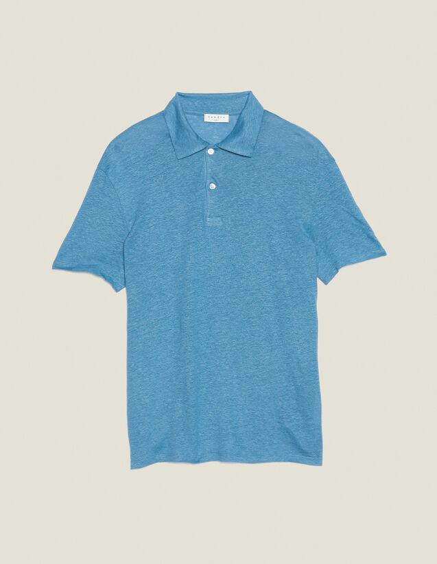 Polo De Manga Corta De Lino : Camisetas & Polos color Azul Claro