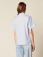 Camisa De Popelina De Manga Corta : null color Azul