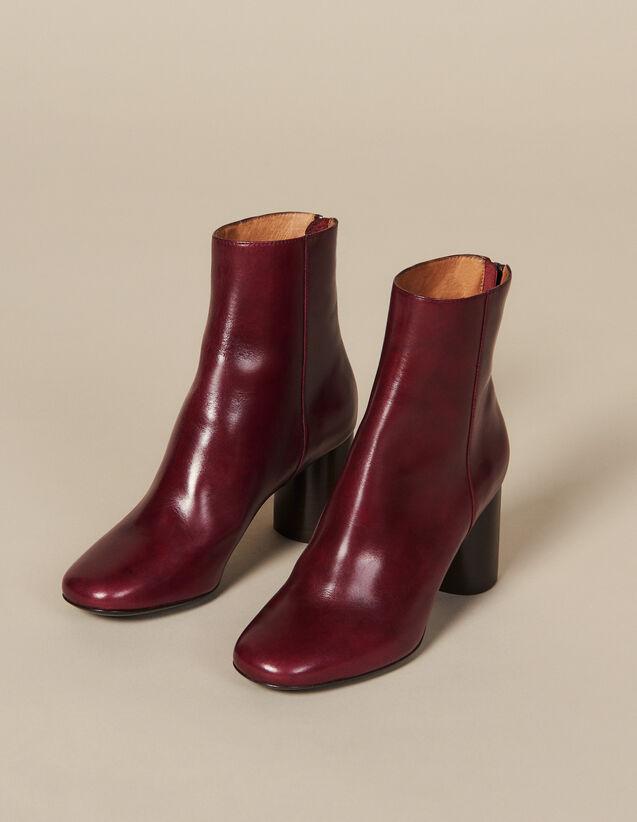 Botines De Piel : Todos Zapatos color Burdeos