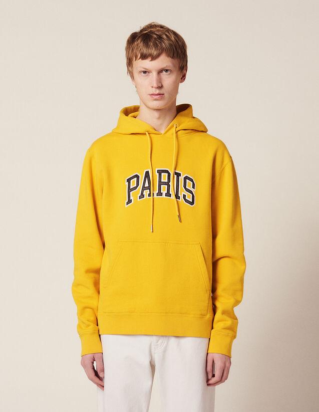 Hoodie Con Parche Con Mensaje : Sudaderas color Amarillo