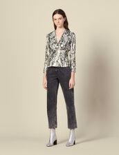 Top de jacquard de lúrex : Tops & Camisas color Multicolor