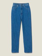 Vaquero De Corte Mom Bicolor : -50% color Bleu Denim