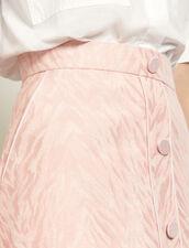 Falda corta de jacquard de cebra : Faldas & Shorts color Rosa
