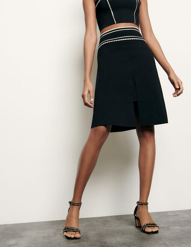 Falda corta de punto : Nueva Colección de Verano color Negro