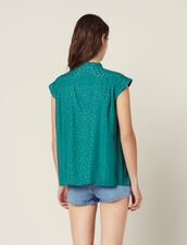 Top Sin Mangas Y Cuello Con Lazo : Tops & Camisas color Verde