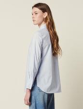 Camisa De Popelina Con Puños Anchos : null color Blanco