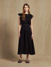 Vestido Largo Fluido Sin Mangas : Vestidos color Negro