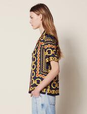 Camisa Estampada De Manga Corta : LastChance-FR-FSelection color Marino