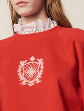 Sudadera De Cuello Victoriano Extraíble : null color Rojo