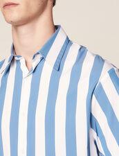 Camisa De Manga Corta Informal De Rayas : Sélection Last Chance color Azul