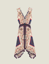 Vestido Fluido Estampado Sin Mangas : Vestidos color Multicolor