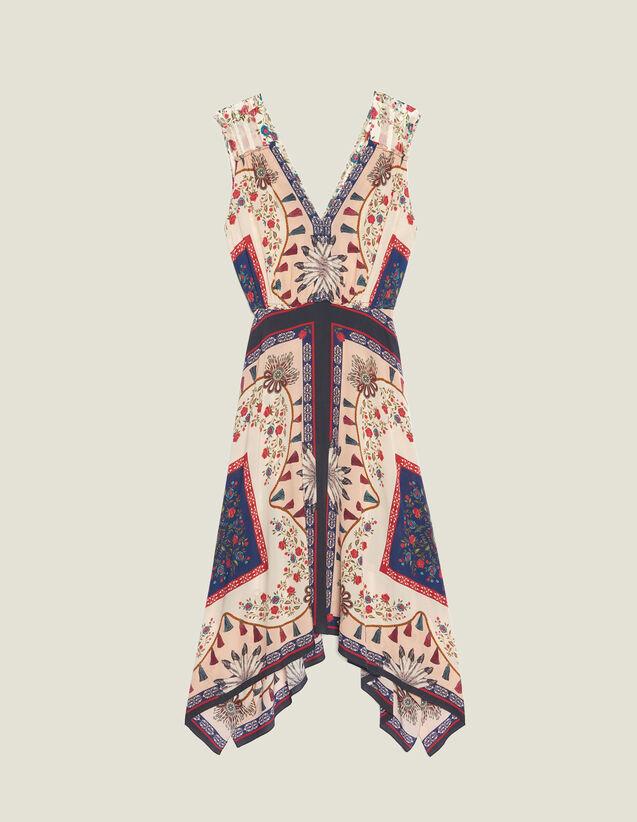 Vestido Fluido Estampado Sin Mangas : null color Multicolor