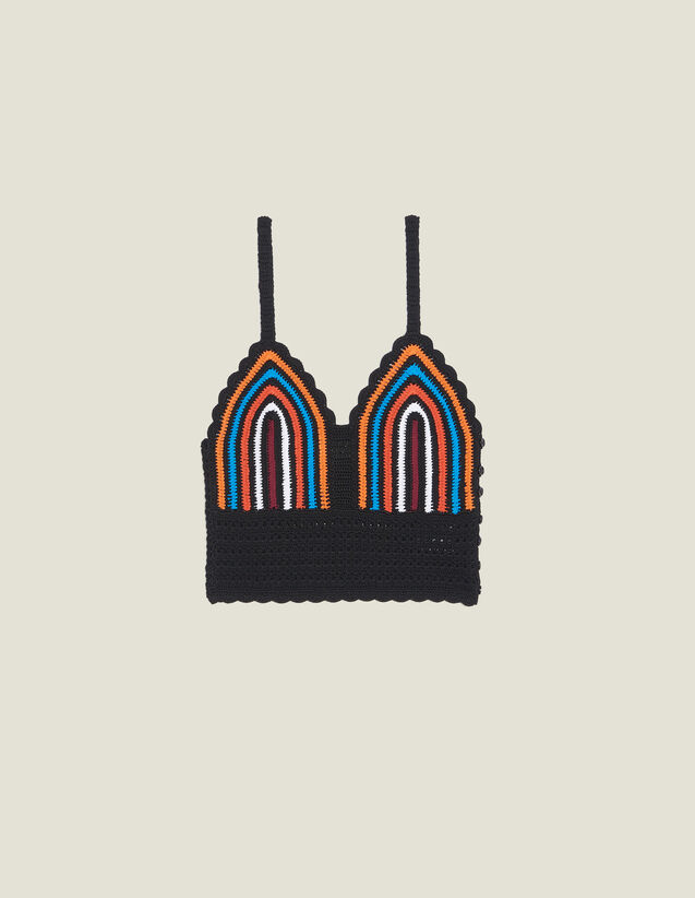 Corpiño De Croché Con Tirantes Finos : Tops & Camisas color Multicolor