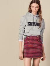 Falda corta de tweed : Faldas & Shorts color Rojo