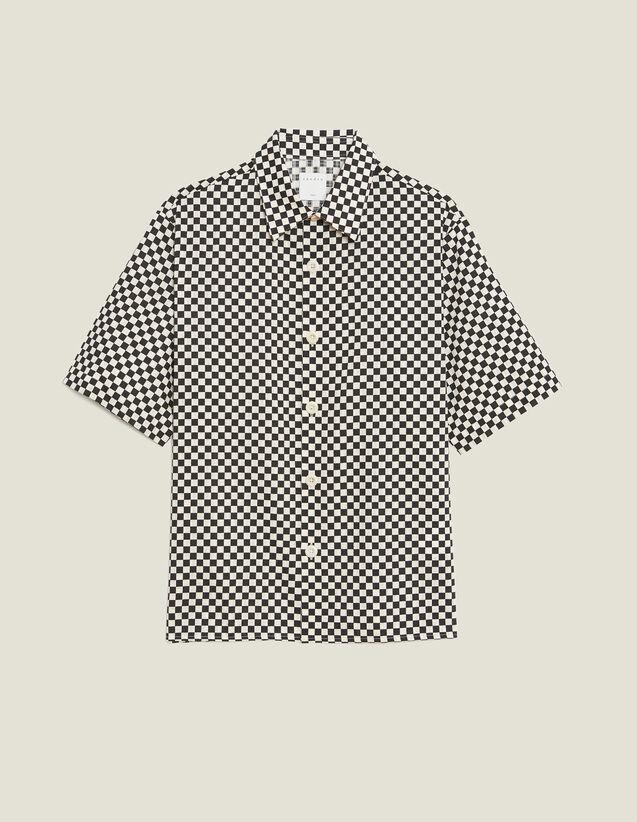 Camisa Manga Corta Damera Tejido Japonés : Sélection Last Chance color Negro