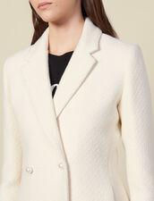 Chaqueta de tweed con botones perla : -20% color Crudo