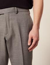 Pantalón De Traje De Lana : LastChance-RE-HSelection-Pap&Access color Gris Claro