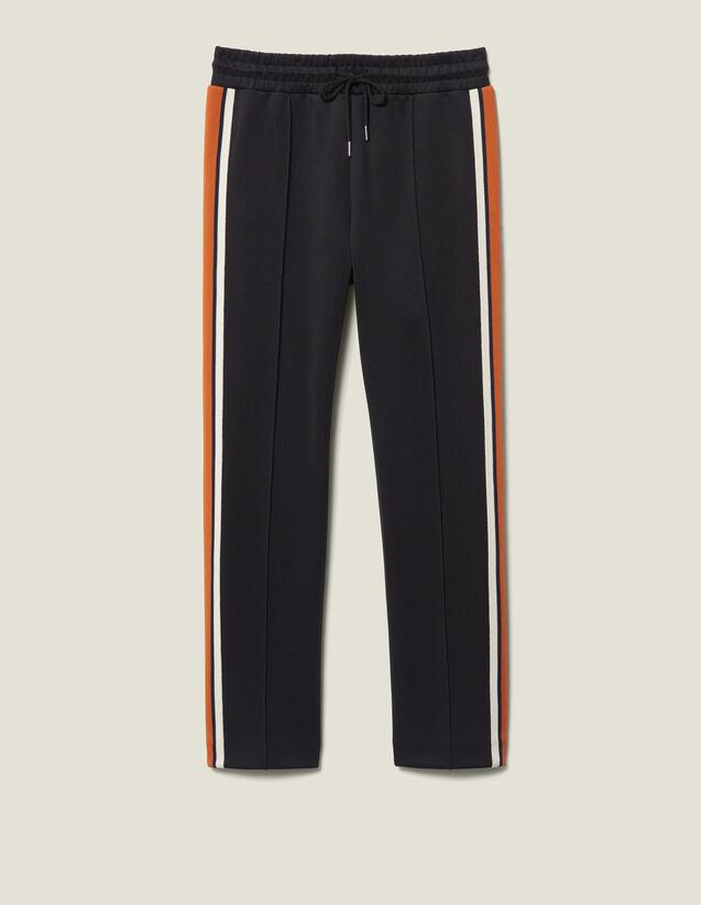 Pantalón De Jogging De Punto Con Rayas : FBlackFriday-FR-FSelection-Pantalons&Jeans color Marino