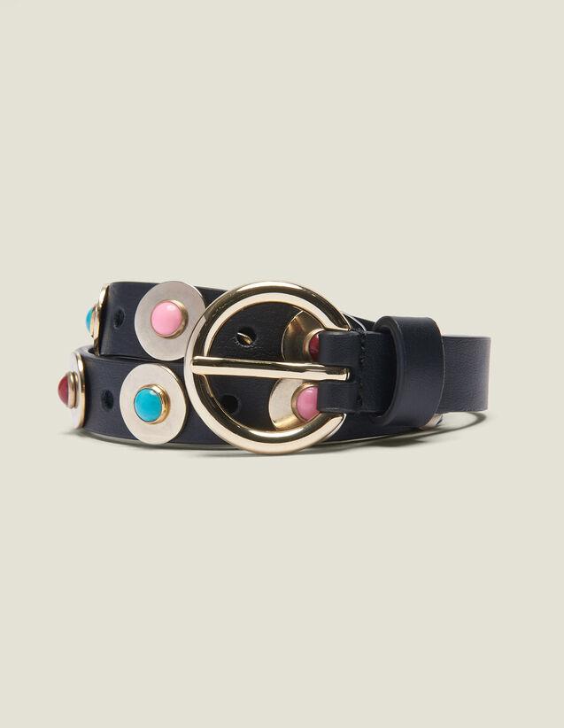 Cinturón Con Perlas Decorativas : null color Negro