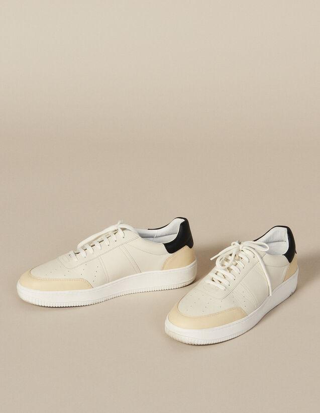 Deportivas De Piel : Zapatos color Blanco / Negro