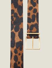 Cinturón De Piel Efecto Pony Estampado : Cinturones color Leopardo