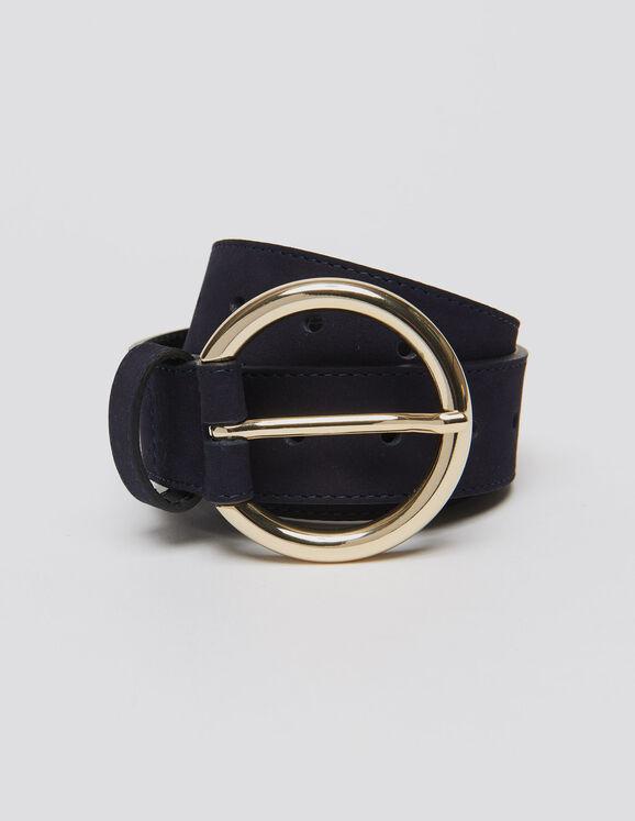 Cinturón de piel : Cinturones color Marino Oscuro - Zoom out this image(ES)