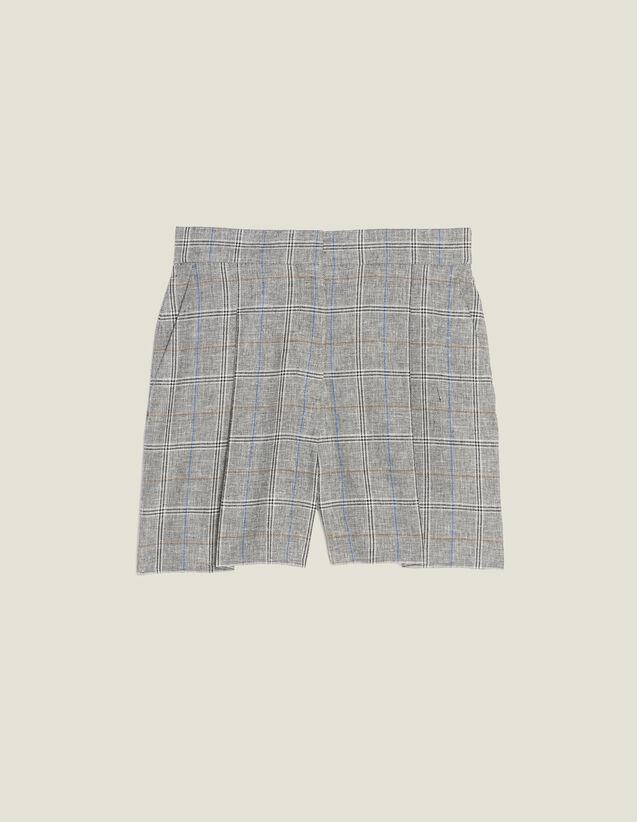 Short De Cuadros : Faldas & Shorts color Gris