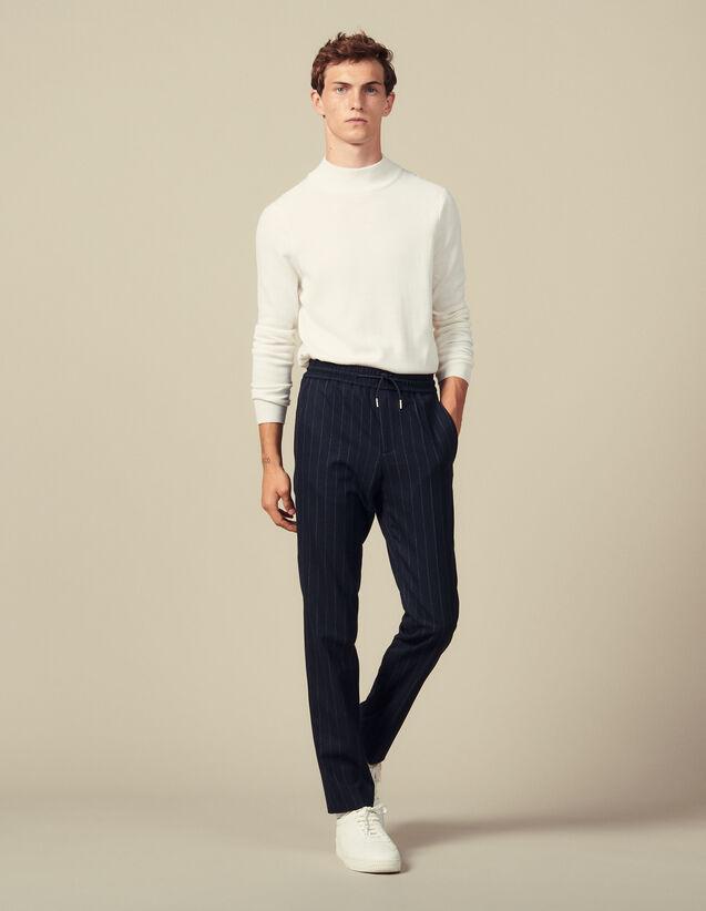 Pantalón urbano de lana : Pantalones & Bermudas color Marino