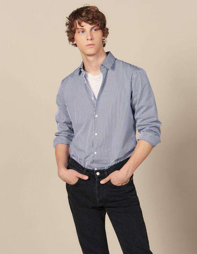 Camisa De Rayas : Colección de invierno color Marino/Blanco