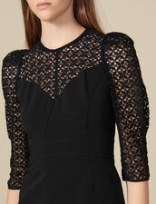 Vestido corto con inserto : FBlackFriday-FR-FSelection-30 color Negro