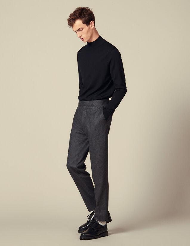 Pantalón de franela de corte zanahoria : Pantalones & Bermudas color Gris Moteado